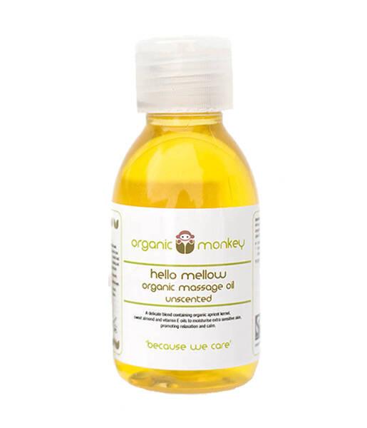 Aceite de masaje sin fragancia 125ml Organic Monkey