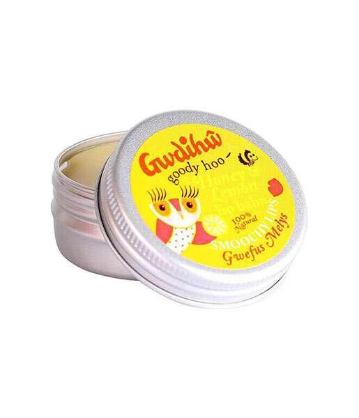 Bálsamo de labios de miel y limón 15g Gwdihw