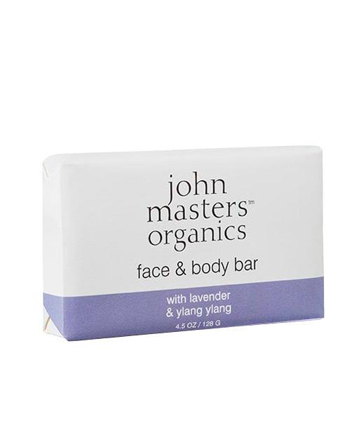 Jabón-rostro-y-cuerpo-de-lavanda-geranio-e-ylang-ylang-new-128-g-John-Masters