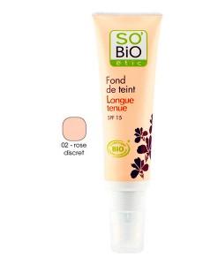 Base de maquillaje fluido de larga duración 02 rose discret 30ml