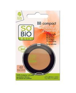 """BB corrector compacto 02 """"beige medio"""" 3,8g So Bio Etic"""