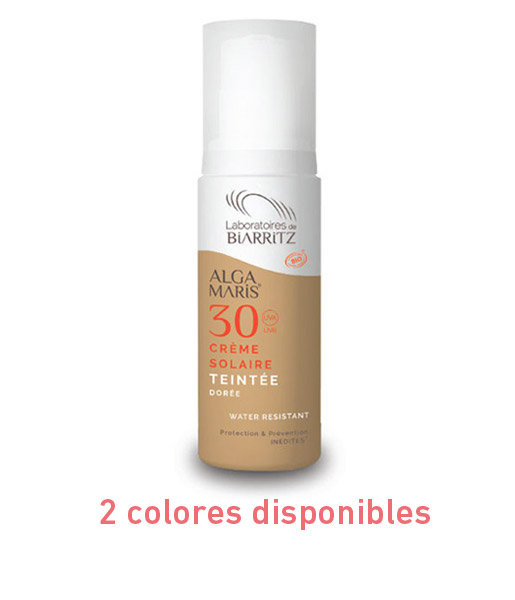 Crema facial con color spf 30 50ml 2 colores Alga Maris