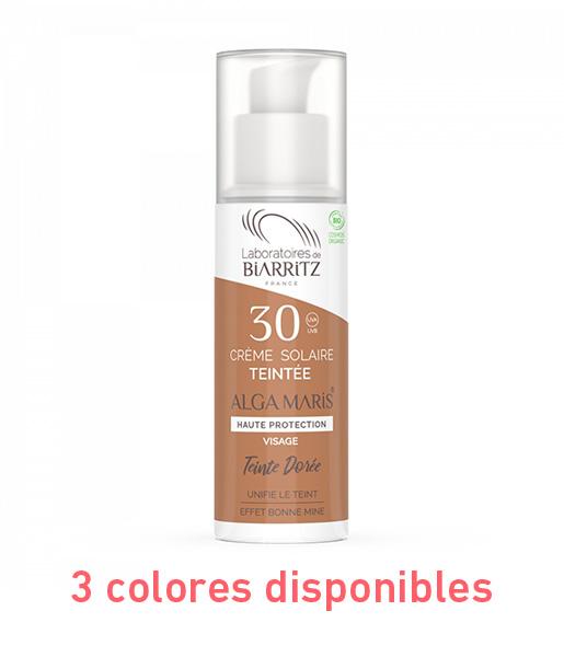 Crema facial con color spf 30 50ml 3 Tonos Alga Maris