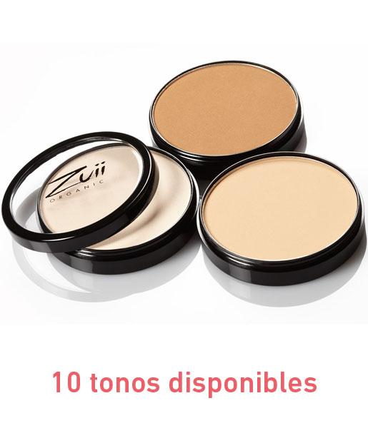 Base floral en polvo compacto 10g 10 tonos Zuii Organic
