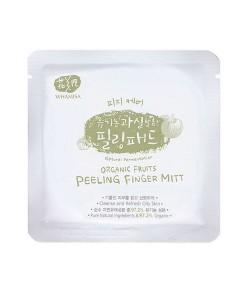 Organic fruits peeling finger mitt (disco exfoliante piel grasa) Whamisa