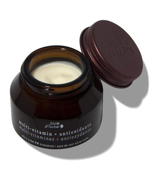 Tratamiento de noche ultra rico multivitamin + antiox 42,5g 100% Pure