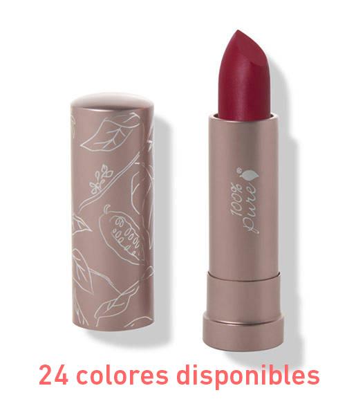 Cocoa-butter-matte-lipstick-4,5g--24-tonos-100%-Pure