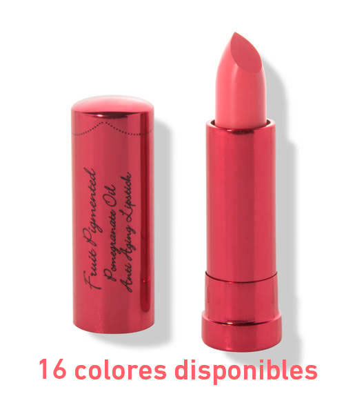Fruit-pigmented-pomegranate-oil-anti-aging-lipstick-45g-16-colores-disponibles-100-Pure
