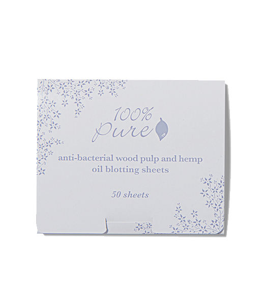 anti-bacterial wood pulp and hemp oil blotting sheets 50 uds 100% Pure