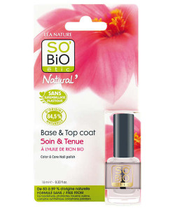Base esmalte & Top coat con aceite de ricino 10ml So'bio etic