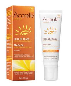 Aceite de playa protector y prolongador del bronceado 75ml Acorelle