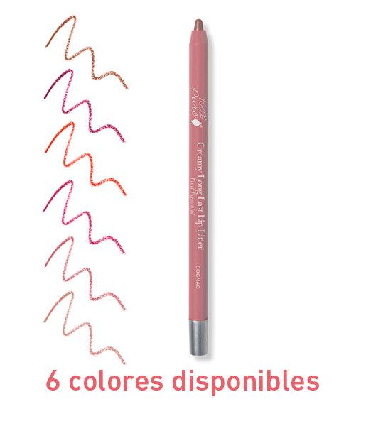 Delineador de labios cremoso retractil 1,14gr 6 tonos 100%Pure