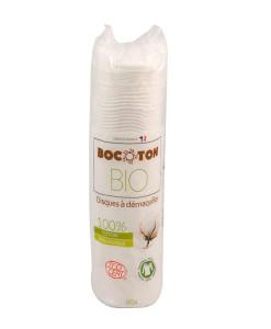 Discos desmaquillantes algodón bio 80uds Bocoton