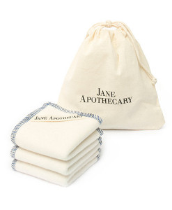 Pack toallitas de algodón orgánico Jane Apothecary