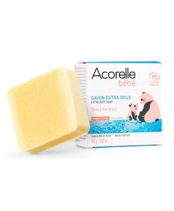 Jabón-corporal-y-facial-extra-suave-para-bebé-100g-Acorelle