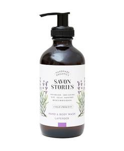 Jabón líquido para cuerpo y manos de lavanda 240ml Savon Stories