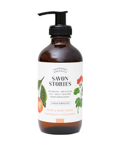 Jabón líquido para cuerpo y manos de mandarina y geranio 240ml