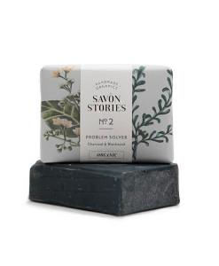 Jabón sólido nº 2 carbón (rostro y cuerpo) 100g Savon Stories