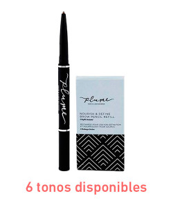 Recambio-lápiz-de-cejas-nourish-&-define-brow-pencil-refill-2ud-Plume-portada 6-tonos